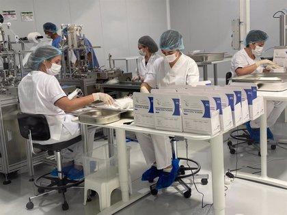DIMA inicia la fabricación de mascarillas en Calatayud con una capacidad de 2,5 millones al mes