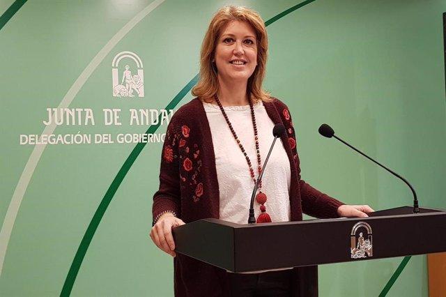 Foto de archivo de la delegada de Fomento en Málaga, Carmen Casero, en rueda de prensa.