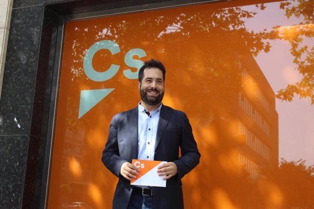 El portavoz adjunto de Cs en el Parlamento de Andalucía, Fran Carrillo.