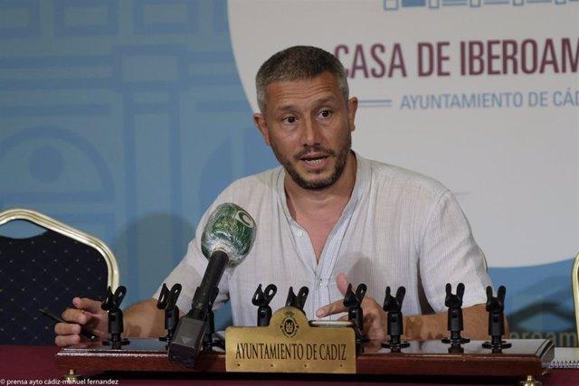 Carlos Paradas, concejal de Fomento del Ayuntamiento de Cádiz