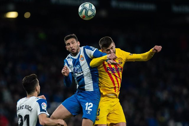 SPAIN, BARCELONA, RCDStadium 4 January 2020; 3 Gerard Piqué of FC Barcelona during la Liga match against RCD Espanyol