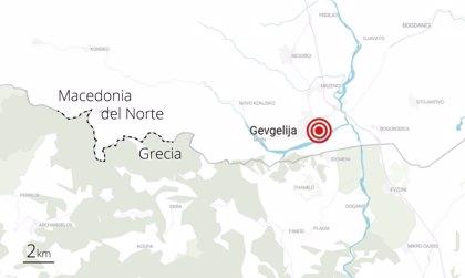 Hallados 211 migrantes hacinados en un camión en Macedonia del Norte