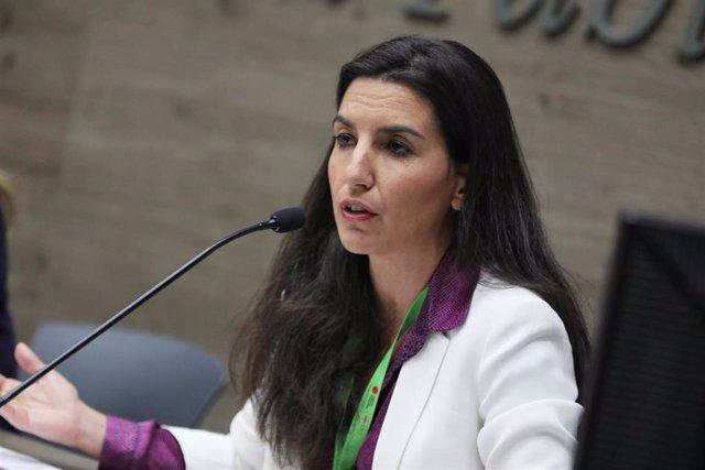 La portavoz de Vox en al Asamblea de Madrid, Rocío Monasterio