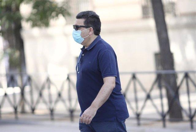 El empresario David Marjaliza, en el momento de su llegada para declarar en la Audiencia Nacional, en relación al 'caso Púnica', en Madrid (España), a 7 de julio de 2020.
