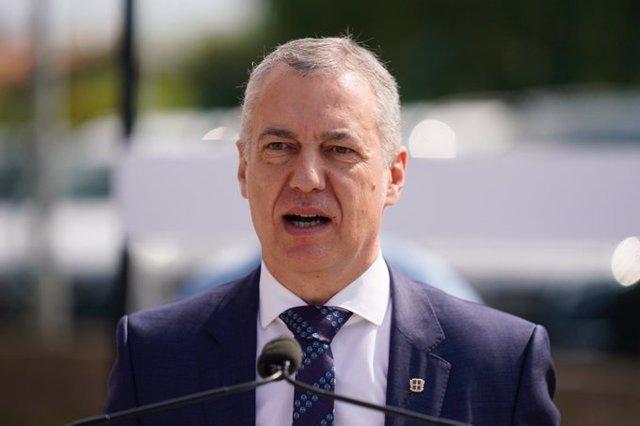 El lehendakari y candidato a la reelección por el PNV, Iñigo Urkullu