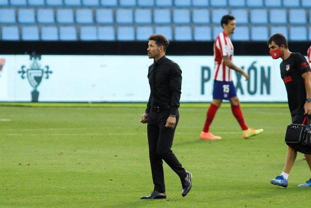 """Fútbol.- Simeone: """"El empate es justo para lo que pasó en el segundo tiempo"""""""