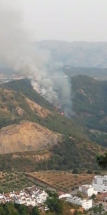 El Infoca da por controlado el incendio forestal en un paraje de Archidona (Málaga)