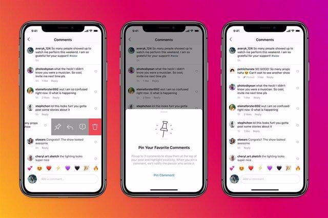 La nueva función de Instagram que permite fijar comentarios de una publicación