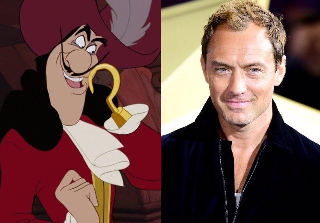 Jude Law negocia para ser el Capitán Garfio en ell remake de Peter Pan que prepara Disney