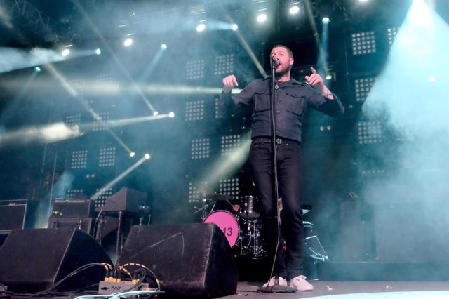 Tom Meighan of Kasabian performs onstage during day 2 of the 2015 Coachella Valley Music And Arts Festival