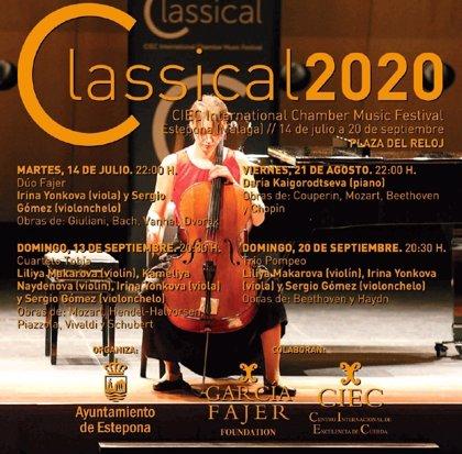 Estepona acoge este verano el festival de música de cámara 'Classical 2020'