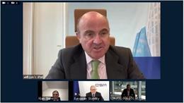 UE.- Guindos (BCE) dice que los datos invitan al optimismo sobre la recuperación