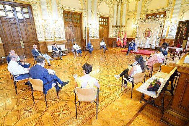 Reunión de la Junta de Gobierno del Ayuntamiento de Valladolid.