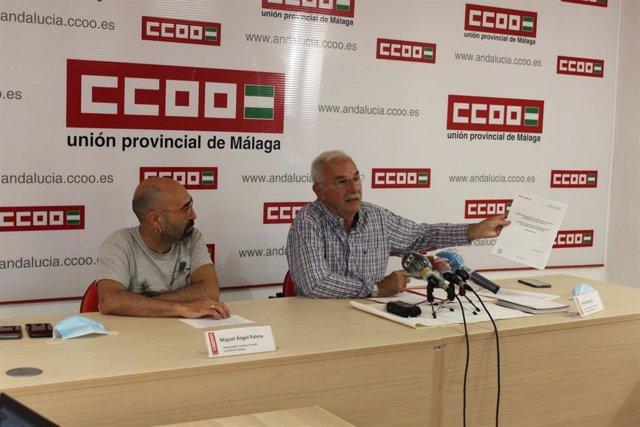 Rueda de prensa CCOO educación en Málaga