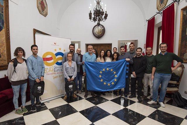 Imagen de archivo de la presentación de las Becas Europa tomada el 30 de octubre de 2019