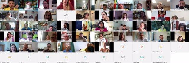 Participantes en la segunda sesión de las Comisiones de trabajo de Cohesión Social y Ciudadanía de la Federación Andaluza de Municipios y Provincias (FAMP).