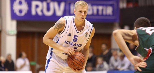 Haukur Palsson jugando con su selección