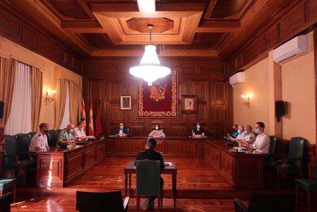 Reunión de la Junta Local de Seguridad de Teruel.