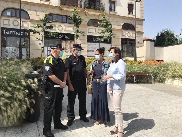 La alcaldesa de Santurtzi recuerda que las fiestas están suspendidas y  anuncia las medidas de control de la Policía Municipal, en coordinación con la Ertzaintza.