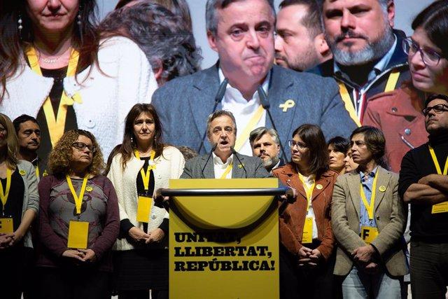 Antoni Morral clausura del congrés de la Crida Nacional per la República