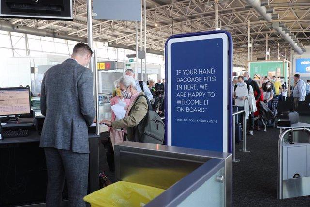 Imagen del aeropuerto de Bruselas durante la pandemia de coronavirus