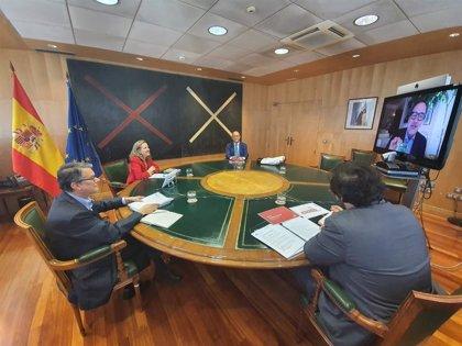 Nadia Calviño se reúne con la Spain Film Comission para analizar la competitividad de España como destino de rodajes