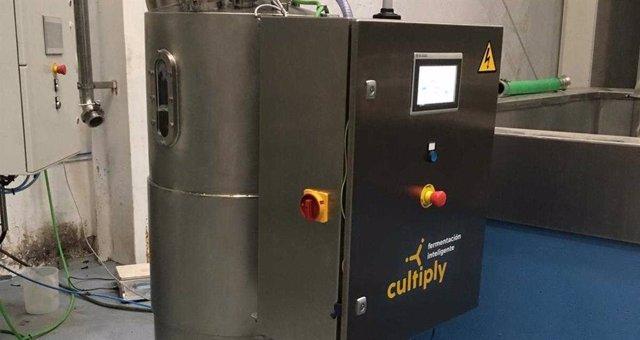 Imagen del dispositivo de la startup andaluza Cultiply, que ahorra costes de fermentación.