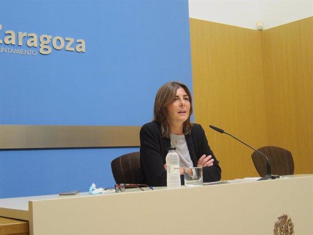 La  concejal de Vivienda del Ayuntamiento de Zaragoza, Carolina Andreu