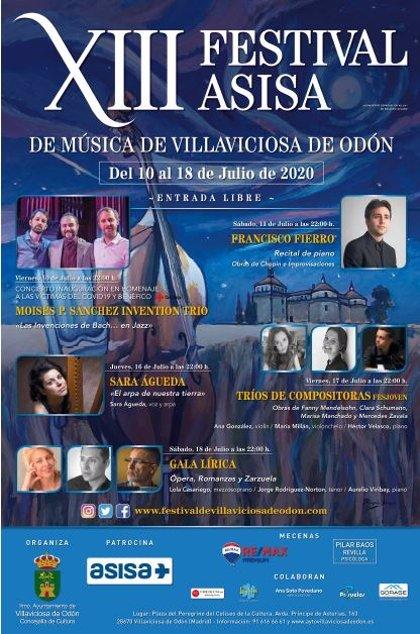 Asisa patrocina el XIII Festival de música clásica de Villaviciosa de Odón que arranca el viernes