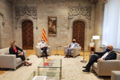 Torra y Chacón se reúnen con Isensee (Seat) en el Palau de la Generalitat