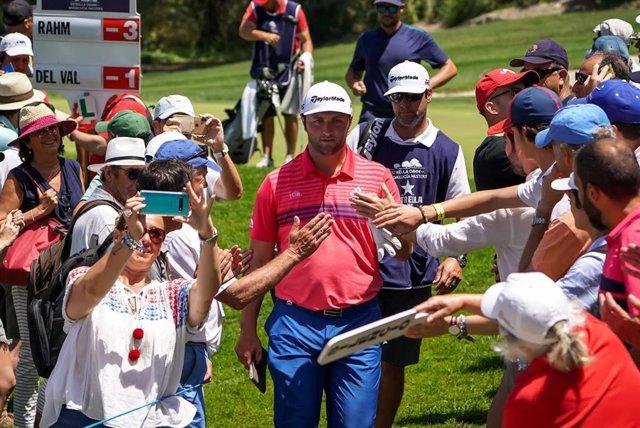 Jon Rahm en el Andalucía Valderrama Masters de golf