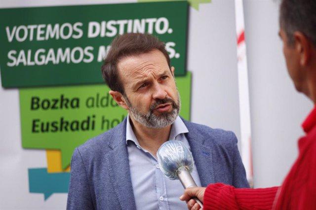 El candidato de Equo Berdeak a lehendakari, José Ramón Becerra.