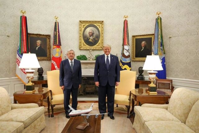 Andrés Manuel López Obrador y Donald Trump en la Casa Blanca.