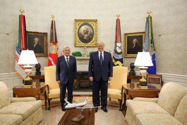 """AMP.- EEUU.- López Obrador y Trump firman una declaración para """"mantener los laz"""