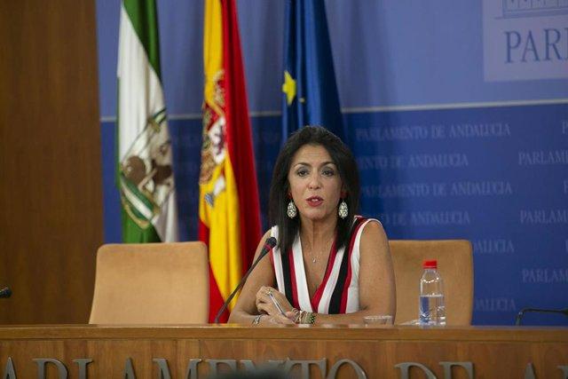 La presidenta del Parlamento de Andalucía, Marta Bosquet, en una foto de archivo