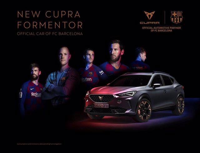 Fútbol.- Cupra Formentor, vehículo oficial del FC Barcelona