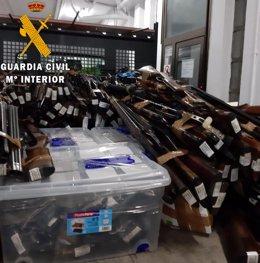 Nota De Prensa La Guardia Civil Destruye Mas De 4 Toneladas De Armas