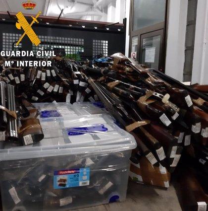 La Guardia Civil ha destruido esta semana más de cuatro toneladas de armas