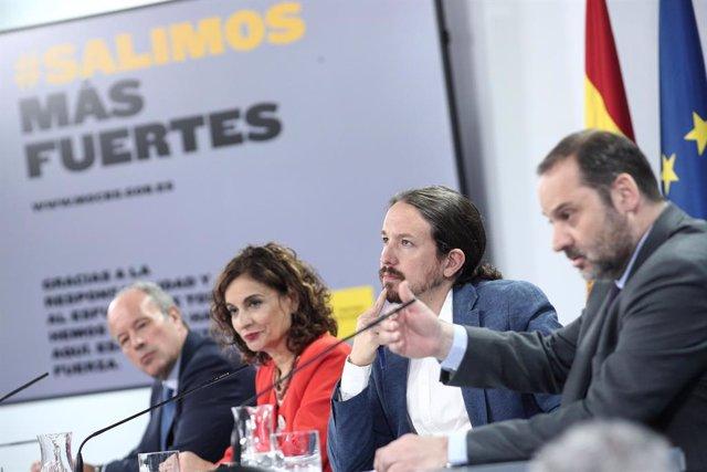 El ministre de Transports, Mobilitat i Agenda Urbana, José Luis Ábalos