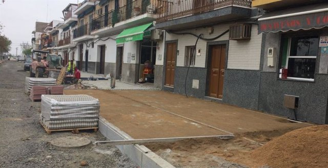 Obras en la calle Torres Albas