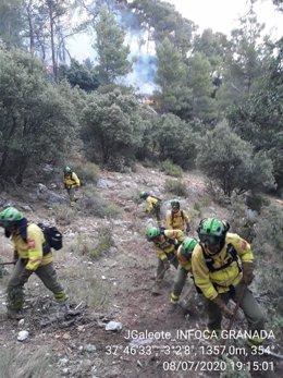 Jaén.- Incendios.- Quesada, afectada de nuevo por un incendio cinco años después del último, que arrasó 9.761 hectáreas