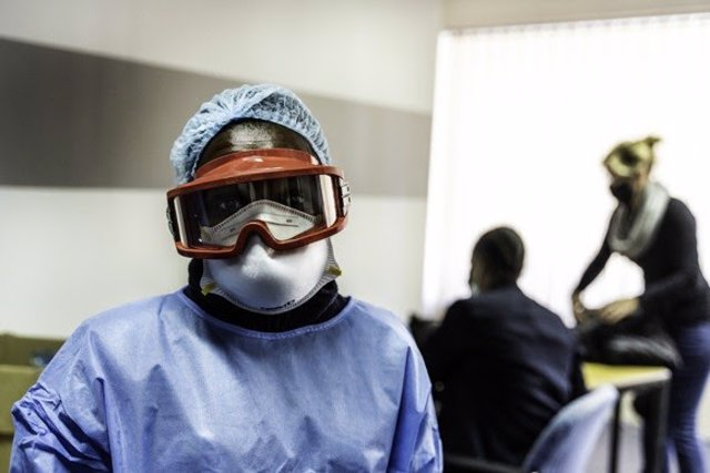 Fotografía de MSF de equipos de protección individual.