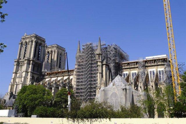 Obras en la catedral de Notre Dame