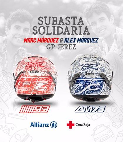 Los hermanos Márquez subastarán los cascos del GP España para luchar contra el coronavirus