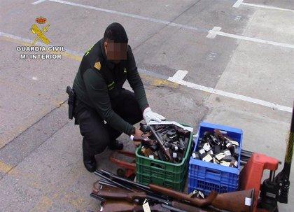 La Guardia Civil destruye más de 3.000 armas procedentes de la Región de Murcia durante 2019