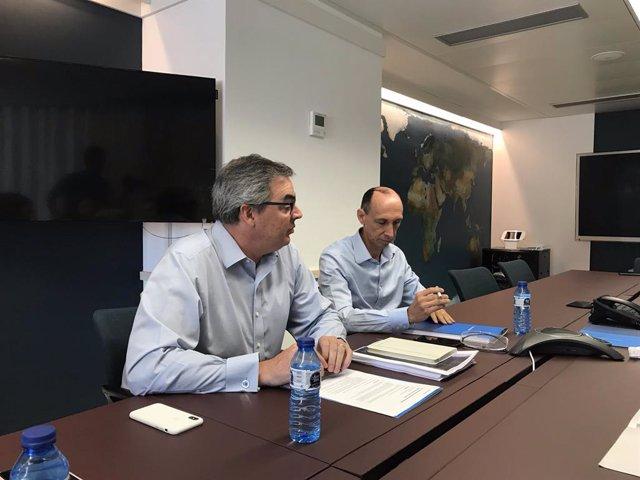 El conseller delegat d'eDreams Odigeo, Dana Dunne, i el director financer, David Elizaga