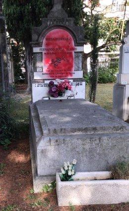 Panteón donde reposan los resto de Fernando Buesa