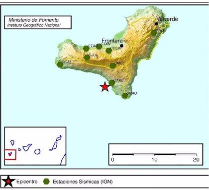 El IGN registra un terremoto de magnitud 3 al suroeste de El Hierro