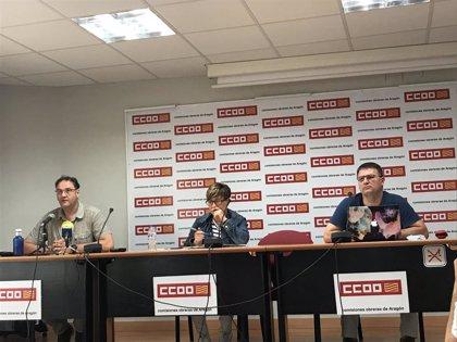 CCOO recurrirá ante los tribunales el decreto ley del Gobierno de Aragón por vulnerar negociación colectiva
