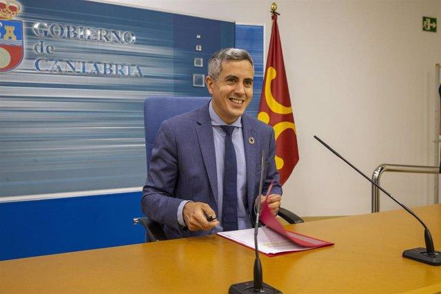 El vicepresidente del Gobierno de Cantabria, Pablo Zuloaga